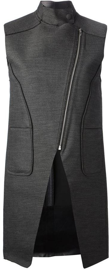 Alexander Wang asymmetric sleeveless jacket on shopstyle.com