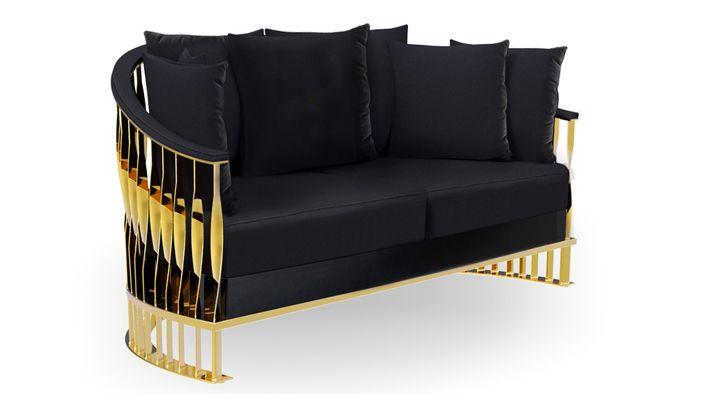 MANDY Sofa by Koket luxury furniture black sofa for living room