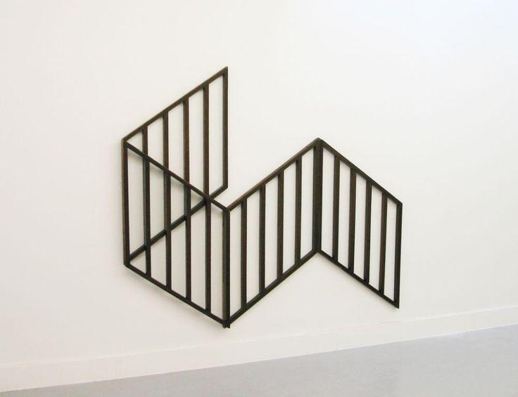 "Vanessa Henn [Germany] (b 1970) ~ ""Optical Flat"", 2010. Wood grid. | #art #sculpture #wood #abstract #MinimalArt #installation"
