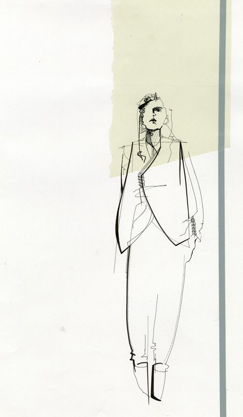 Fashion Illustration by Louise Bennetts - http://modeconnect.com/project/student-profile-louise-bennetts