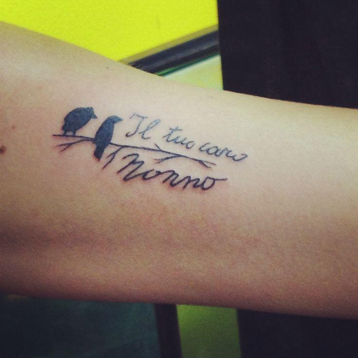 "Grandpa's handwriting tattoo- il tuo caro nonno ""your dear grandpa "" I got this from a card he signed - love my first tattoo RIP nonno"