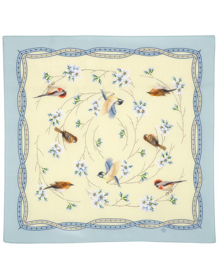 Ercu Silk scarf ''Ringing Morning'' | RusClothing.com #ercu #silk #scarf