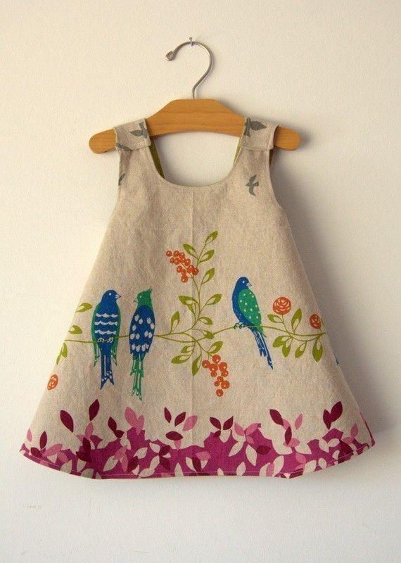 Birdsong omkeerbare moderne schort jurk van Noach door noahandlilah