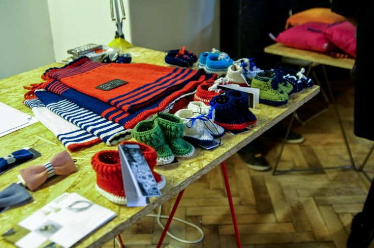 Kid's knitted stuff from the project Alter Deco which cooperate with Czech artisans in age 50+