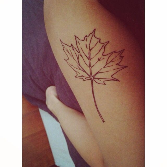 My maple leaf tattoo