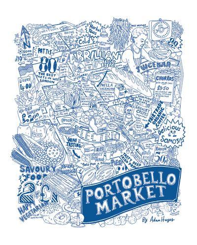 Portobello Market Map - Adam Hayes