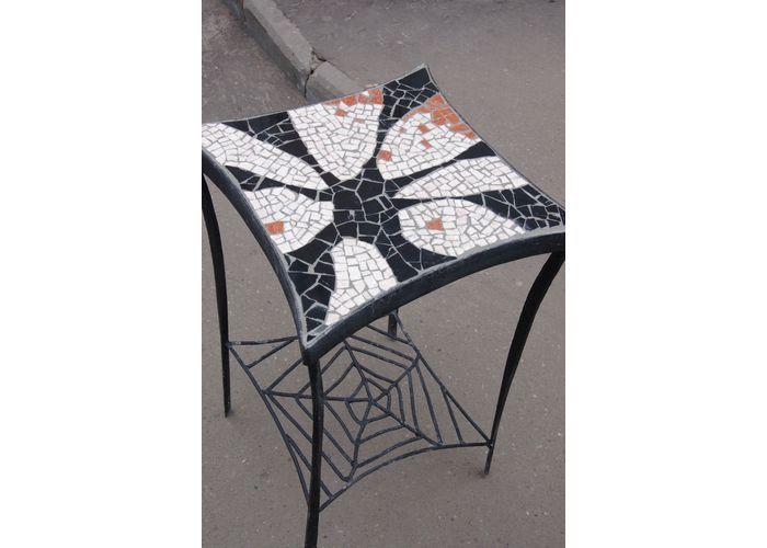 изготовление мозаики: мозаичные столы с кованным основанием - купить в регионе Москва в интернет-магазине MD-Studio. Продажа онлайн, цены, отзывы, где купить.