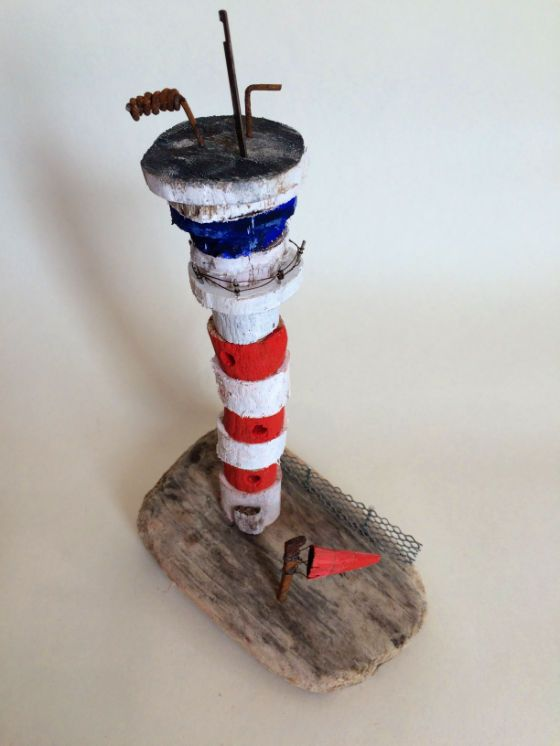 Airport control tower hand made in West-Cork, Ireland from driftwood.
