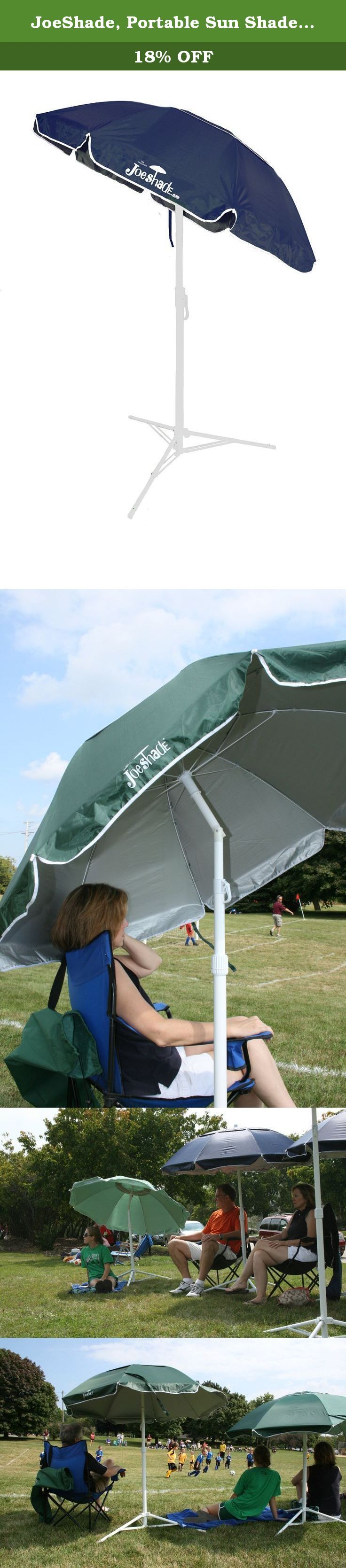 JoeShade, Portable Sun Shade Umbrella, Sunshade Umbrella, Sports Umbrella, BLUE. This is The Original JoeShade portable sports umbrella as seen on TV and playing fields, poolsides, patios and beaches all across the USA. Portable, light weight, with TRIPOD STAND, Tilt and UV Blocking. JoeShade is perfect for all your outdoor activities. Weights only 8 pounds, the 60 inch umbrella width is perfect size for 2 adults. JoeShade is an Official Sponsor of The Melanoma Research Foundation (MRF)…