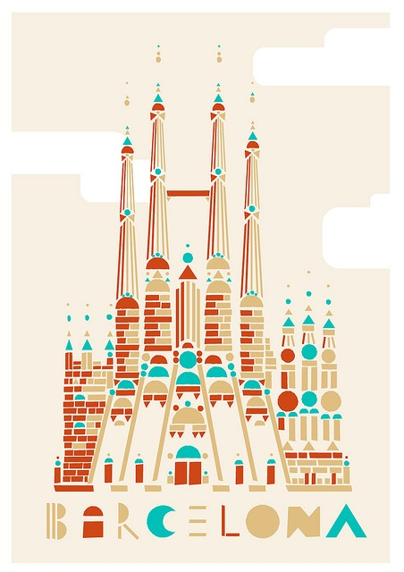 Philippe Nicholas: Barcelona.. like this print (and this city!)