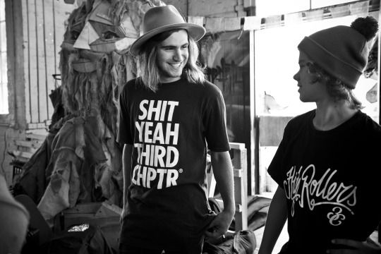 """Third Chapter's Dusk Till Dawn Collection, Featuring Our """"Shit Yeah Third Chapter Tee, High Rollers T-Shirt"""""""