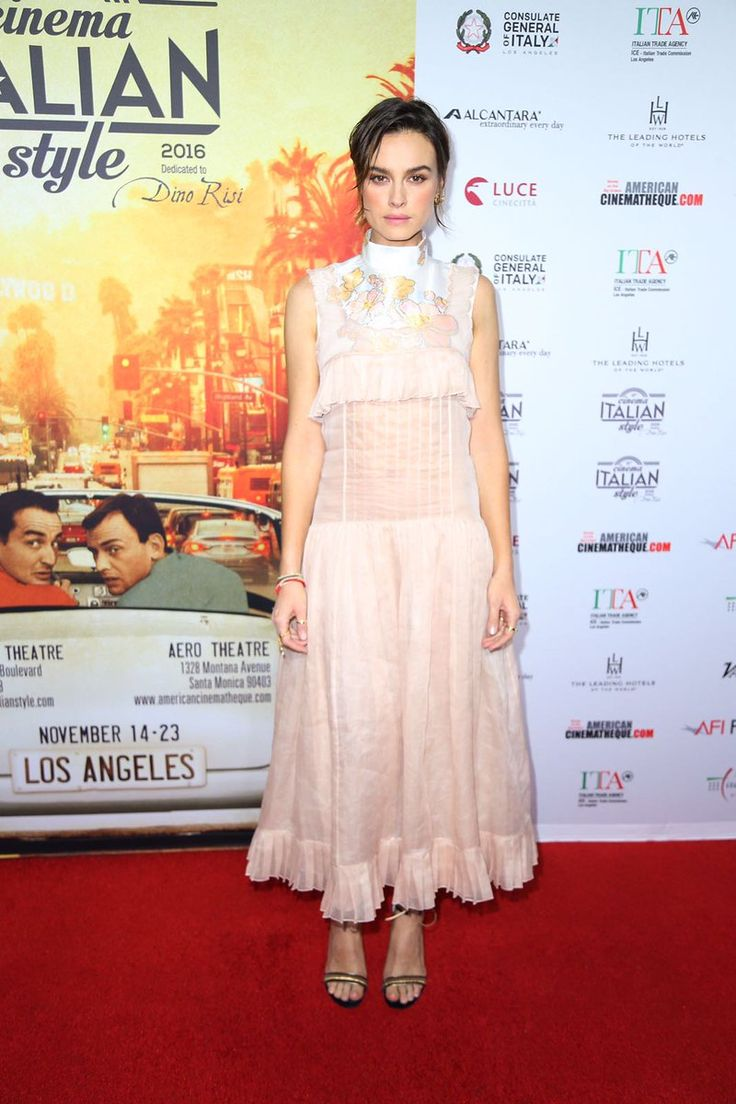 Actress Kasia Smutniak wore a Fendi Spring/Summer 2017 dress for the AFI Festival 2016 held at the Egyptian Theatre in Hollywood.