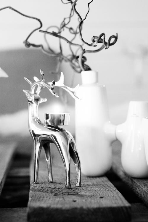 Silver deer ~ white ~ grey
