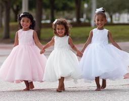 TWIRLY IVORY SL8936 8710 Ballerina Length Dress 6 MONTH TO 8 YRS