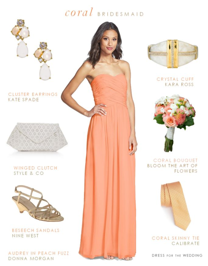 Crushing on this Coral Bridesmaid Dress via @dressforwedding