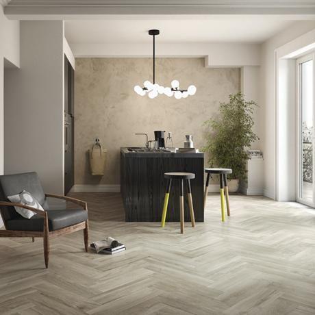 Woodland Grey Floor Tile Grey Porcelain Kitchen Tiles Floor Tiles - Shop | Tileflair