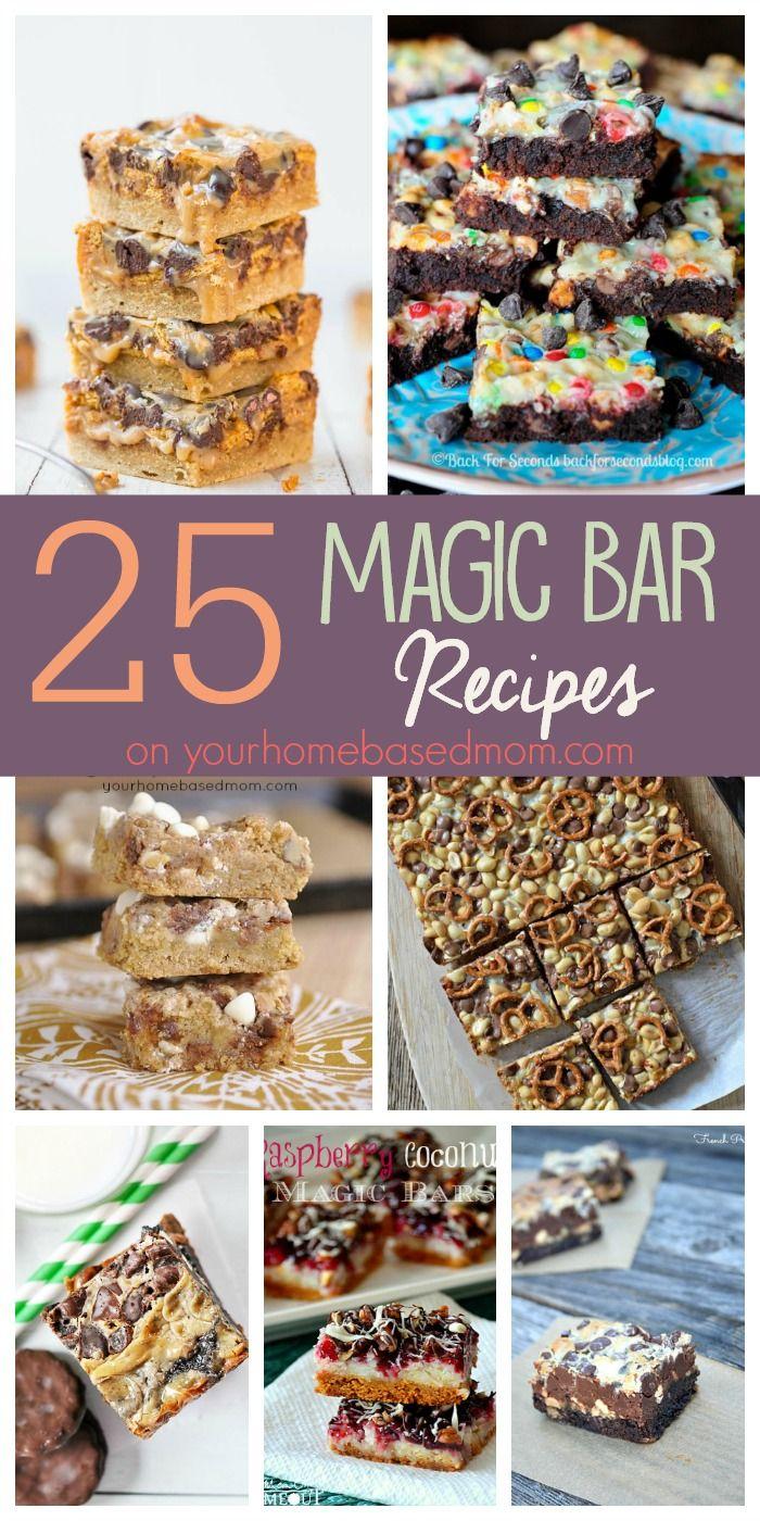 25 Magic Bar Recipes on yourhomebasedmom.com