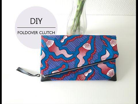 DIY Foldover Clutch // DIY Pochette Pliable - YouTube