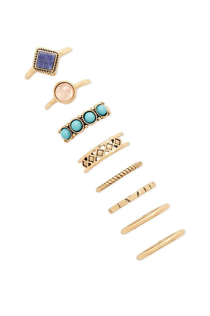 Faux Stone Ring Set | Forever 21 #accessorize