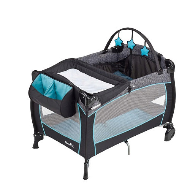 the evenflo portable babysuite 300 playard offers parents convenient space for baby care and play the changer full size bassinet keep