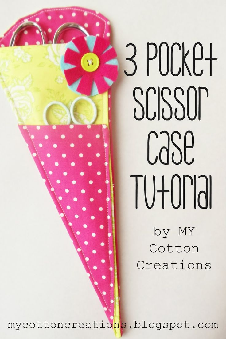 3 Pocket Scissor Case Tutorial: Got one as a gift 4 years ago and it's pretty much my favorite thing