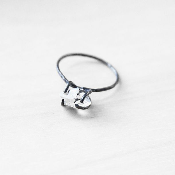 (85) Fab.com   Rutilated Quartz Ring
