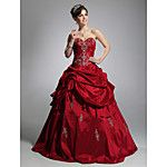 Ball Gown Princess Strapless Floor Length Lace Satin Tulle Formal Evening Dress with Beading Bow(s) by SG 2018 - $159.99