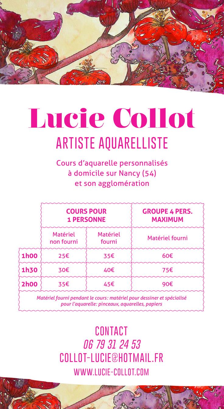 Cours d'aquarelle personnalisés sur Nancy et sa périphérie.