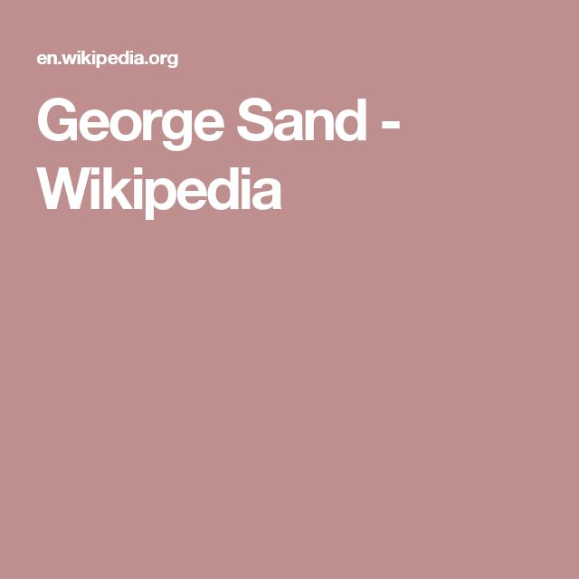 George Sand - Wikipedia