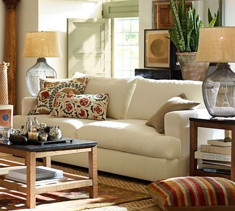 Hampton Sofa Pottery Barn Living Room Santa Monica Blvd Pinterest