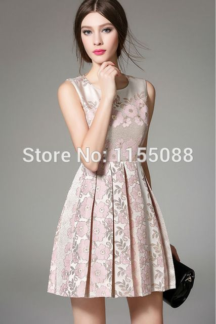 50pcs/lot Nice Summer Autumn Fashion Women Floral Dresses O-Neck Knee-Length Three Quarter Sleeve Ladies Dobby Ball Gown Dresses US $1,574.99 /lot (50 pieces/lot)  CLICK LINK TO BUY THE PRODUCT  http://goo.gl/oYWEYs