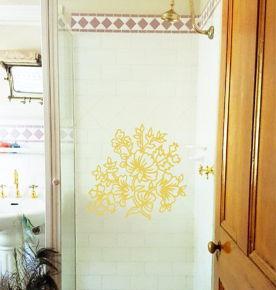 Easy to apply, this etched vintage floral bouquet decal will bring a touch of vintage art to your space.  This decal is supplied in transparent