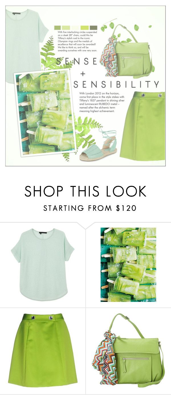 """""""it's the world we've been dreaming of"""" by fernweeh on Polyvore featuring moda, 360 Sweater, Moschino Cheap & Chic, Hadaki, Tiffany & Co., New Look, Summer, Spring, GREEN i Moschino"""
