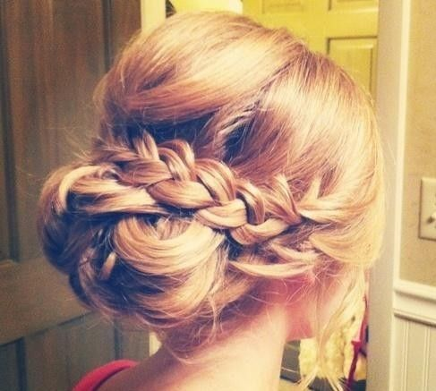 braided bun :) love this hair style, it is perfect for your beach wedding up do! #Hawaii #wedding