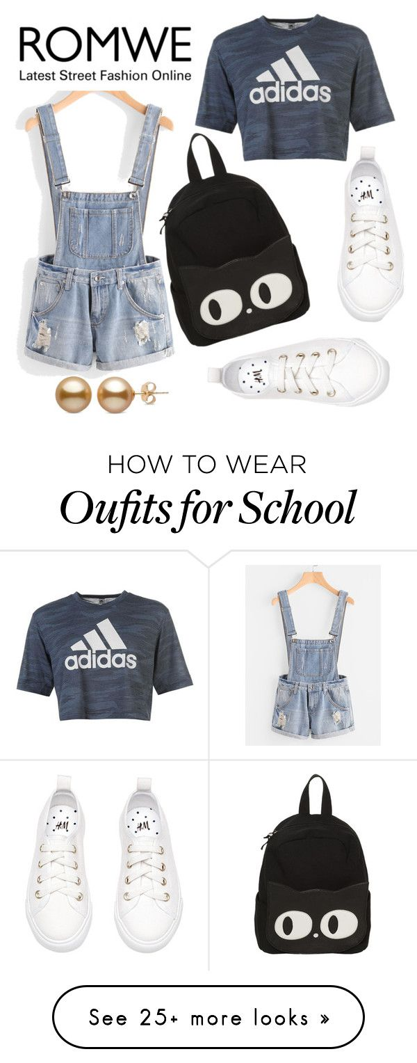 """Romwe 208"" by northern-queen on Polyvore featuring adidas"