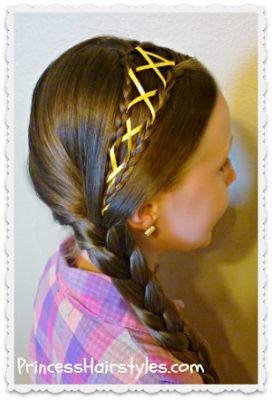 Trenzas atadas con cintas paso a paso / Peinados con trenzas
