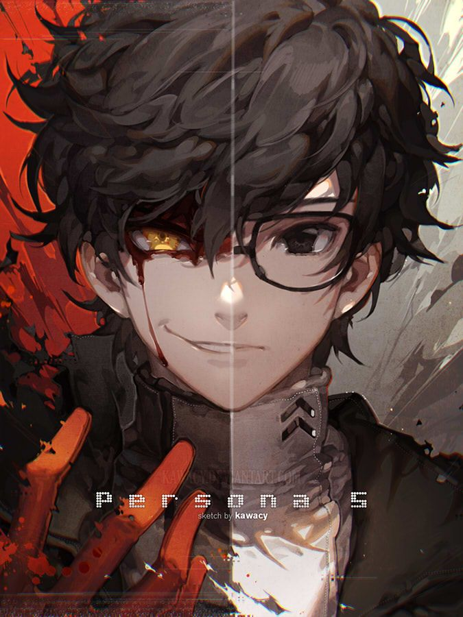 since you all keep saying that i look like this guy well here you go a fanart of myself (all jokes aside) Joker a.k.a Akira Kurusu the protagonist from Persona 5