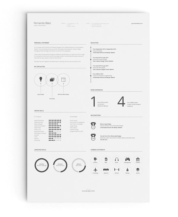 10 Creative And Eye-Catching Résumés That Are Practically Impossible To Ignore - DesignTAXI.com