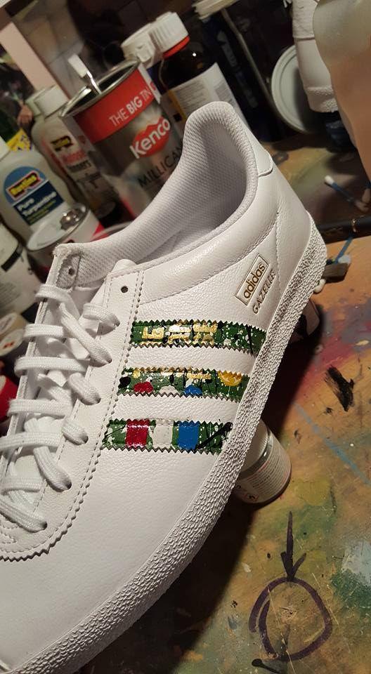 #stoneroses #thestoneroses #adidas #manchester #christmas #gifts  #handpainted #paint