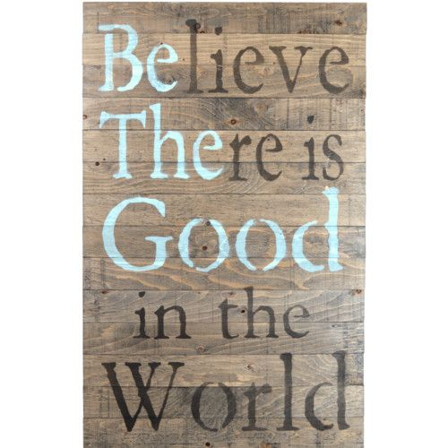 Found it at Wayfair.ca - Crate Sign 'Be The Good' by Denise Walsh Textual Art on Plaque