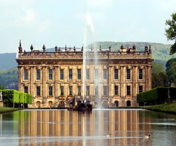 Chatsworth, England's most famous and beautiful country estate, owned by the the Duke and Duchess of Devonshire.