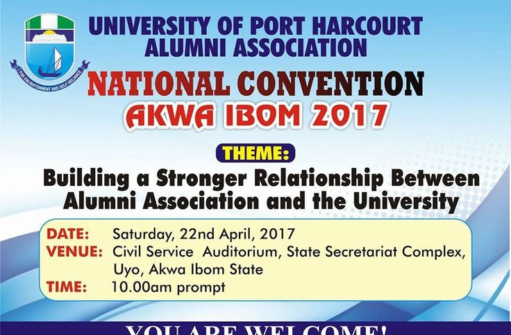 THEME : Building a Stronger Relationship between Alumni Association and the University 22nd April 2017@ Civil Service Auditorium State Secretariat Complex Uyo. ARRIVALS AND CHECK INS :This took place basically on Friday 21st with delegates coming in from 14 state Chapters. The main accommodation was at De Milton hotel Taf plaza close nearly opposite inspiration fm 105.9 commercial office off Aka - Etinan Road. As the delegates came in one thing was obvious. The love and zeal for the Alma…