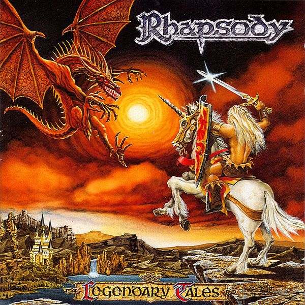 Legendary Tales, an Album by Rhapsody. Released October 27, 1997 on Limb (catalog no. LMP 9710-001 CD; CD). Genres: Power Metal, Symphonic Metal.  Rated #258 in the best albums of 1997.  Featured peformers: Luca Turilli (guitar, choir, music, lyrics), Alex Staropoli (keyboards, choir, music), Fabio Lione (vocals, choir), Daniele Carbonera (drums), Sascha Paeth (bass, acoustic guitar, mandolin, producer, recording engineer, mixing engineer), Robert Hunecke-Rizzo (bass), Paul F. Boehnke…