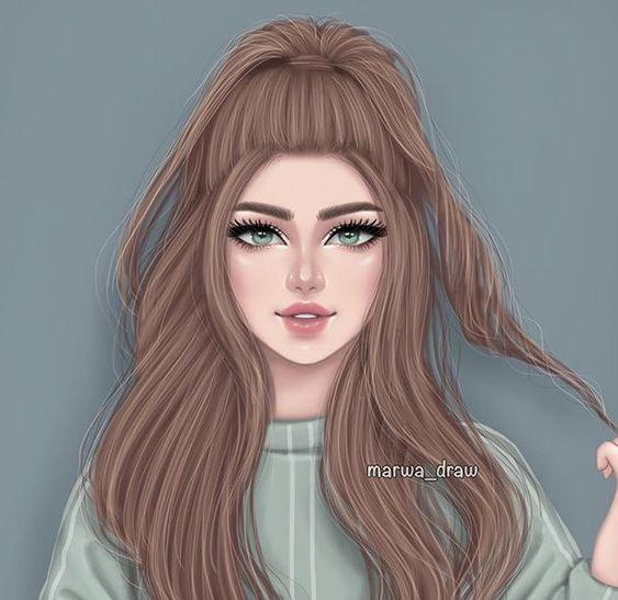 картинка на аву | Рисунки девушки, Портреты девочек ...