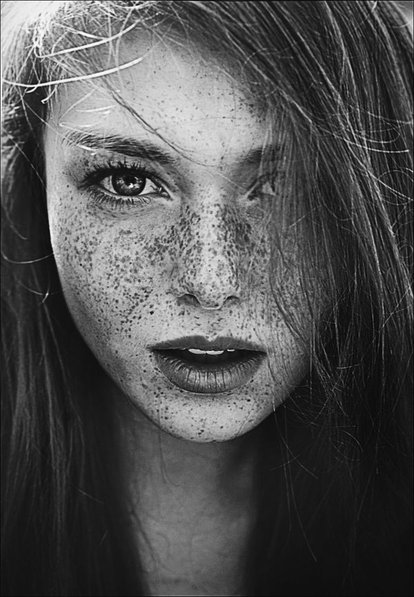...freckles.... just lovely.