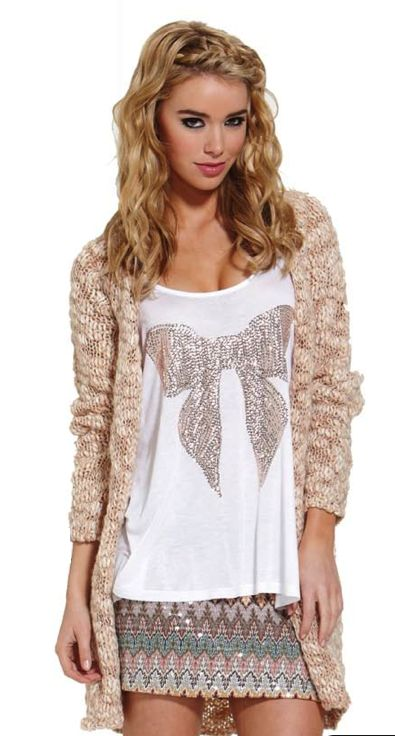 Nothing says stunning like the gorgeous Brianna cardi from Sass.  Only $80!