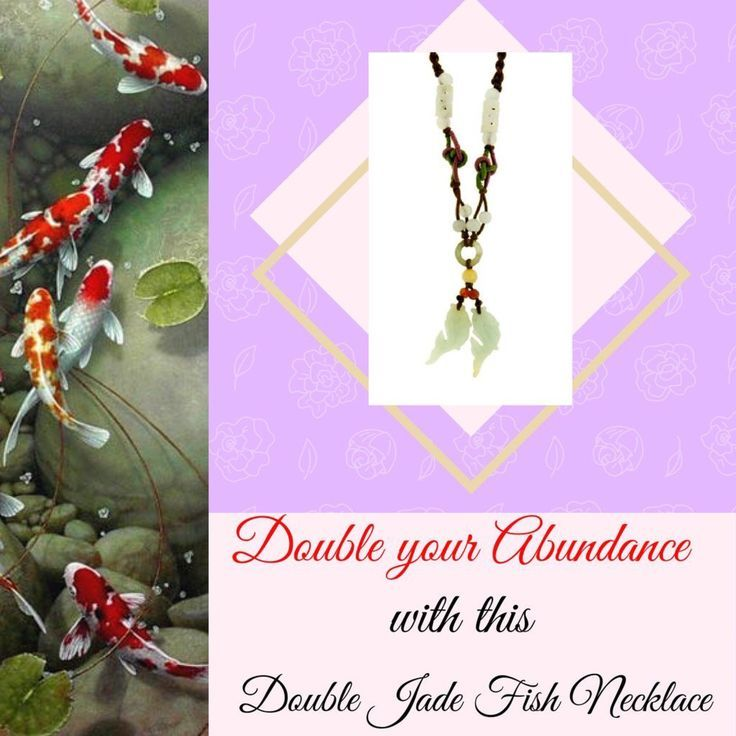 https://www.etsy.com/listing/463010924/known-for-it-symbolic-meaning-of-wealth. Known for it symbolic meaning of wealth, these double Koi fishes jade necklaces dangle in the center of the necklace