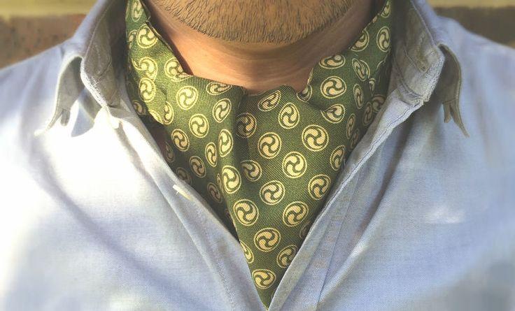 SHION Printed Silk Cravat #cravat #ascot #tie #daycravat #silkcravat #silk #cravats #ascots #madeinengland #wedding #groom #groomswear #weddingideas #idea #grooms #style #weddingstyle #outfit #inspiration #weddingguest #guest #usher #ushers #buybritish #accessories #dapper #gentleman #cravatclub #green #yellow #jasmine #matcha #japanese #greencravat #greenascot