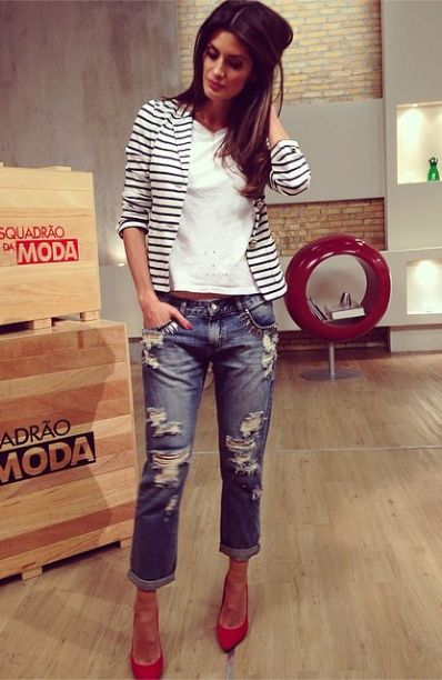 MODA - CALÇA JEANS DESTROYED - Juliana Parisi - Blog