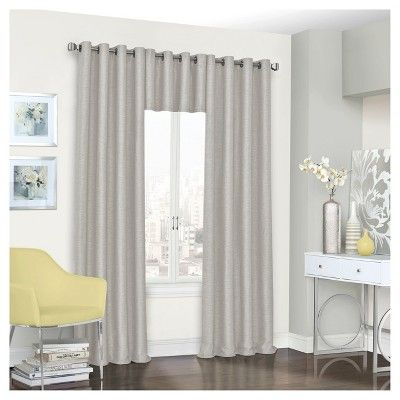 "Presto Thermalined Window Valance Gray (52""x18"") - Eclipse"